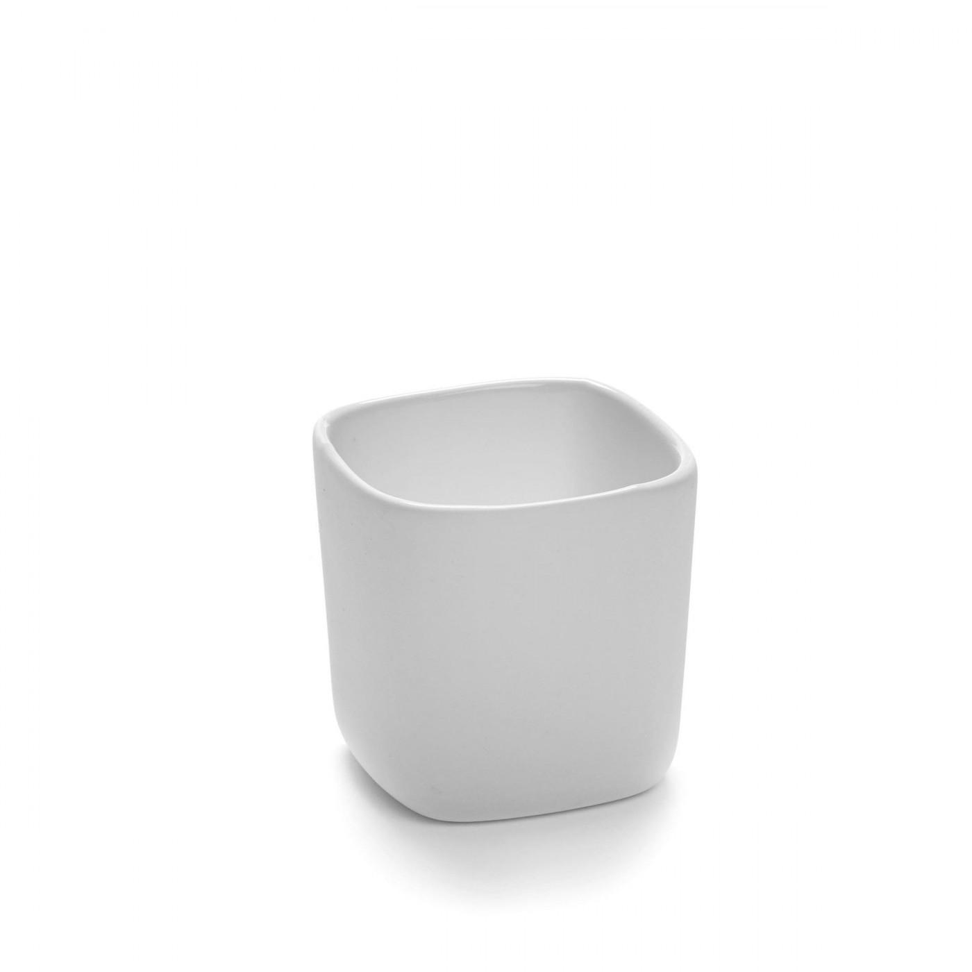 Bol carré en porcelaine blanche 6x6cm H6cm