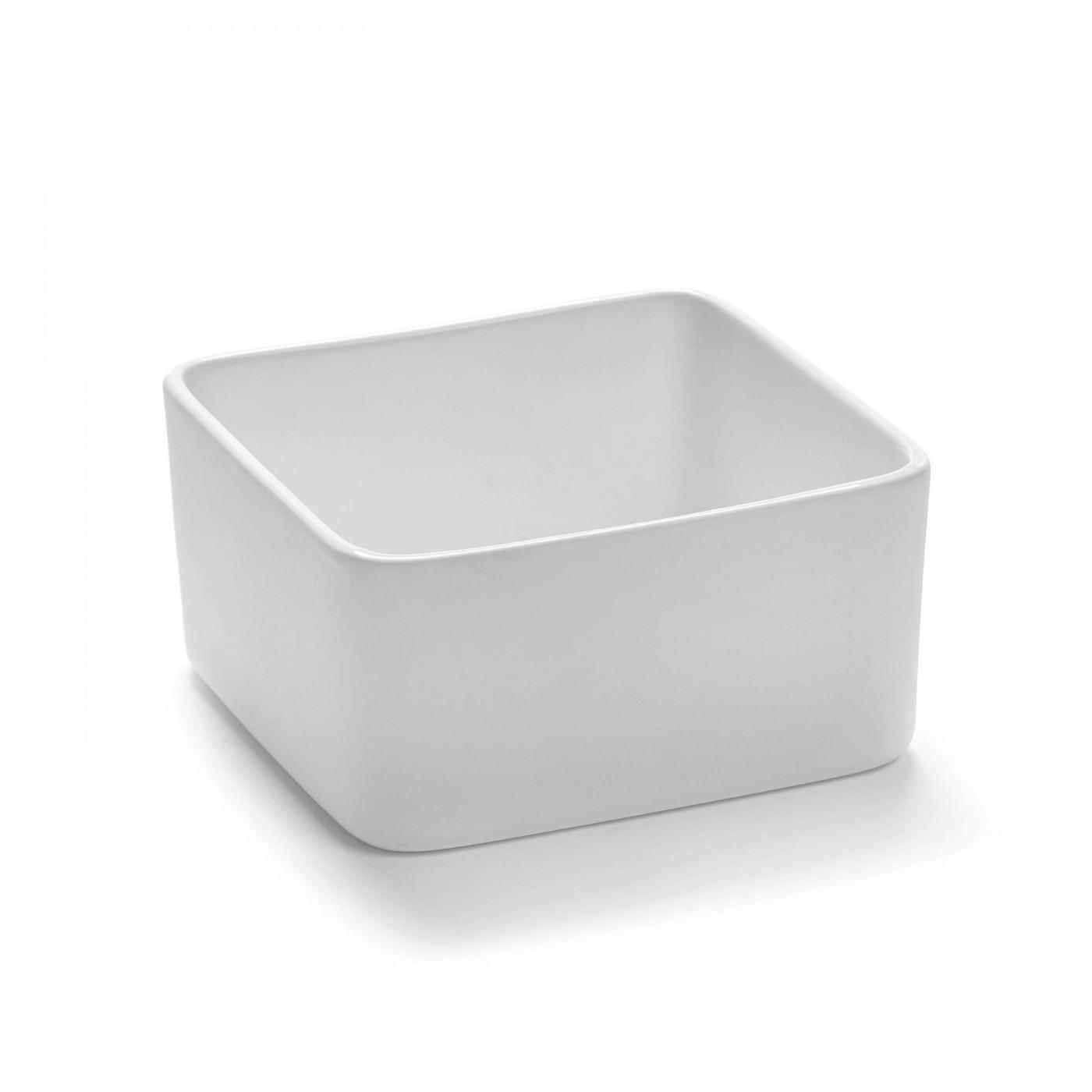 Bol carré en porcelaine blanche 12x12cm