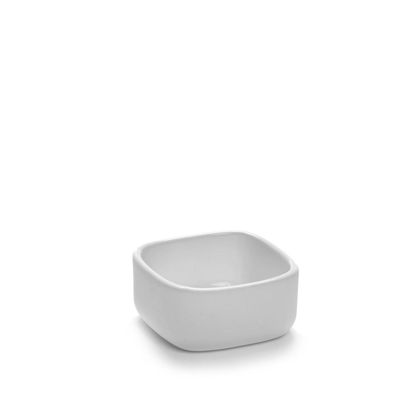 Bol carré en porcelaine blanche 6x6cm H3cm