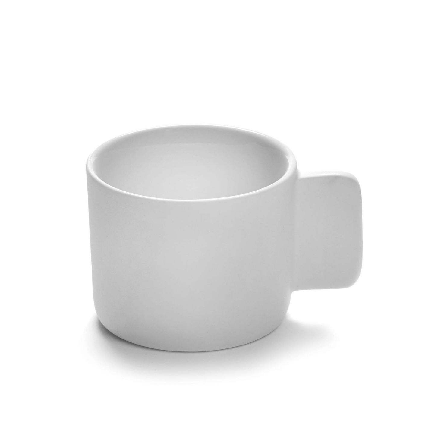Tasse à café en porcelaine blanche D7cm