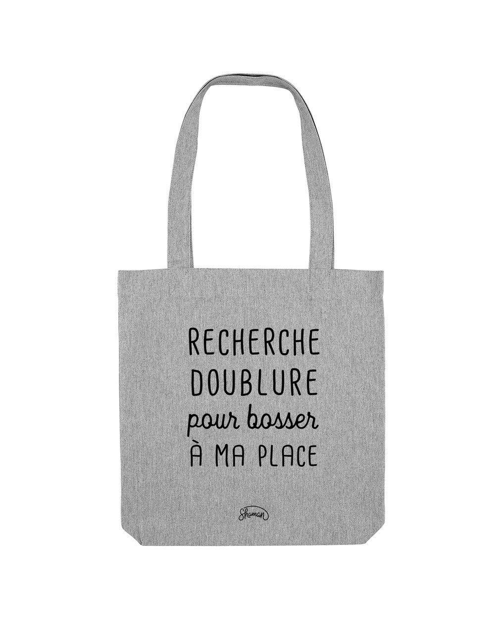 RECHERCHE DOUBLURE - Tote Bag  Gris chiné  en coton