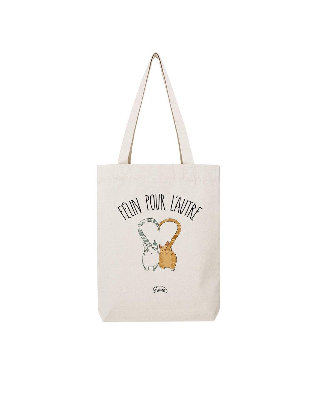 FÉLIN POUR L'AUTRE - Tote Bag  Natural  en coton