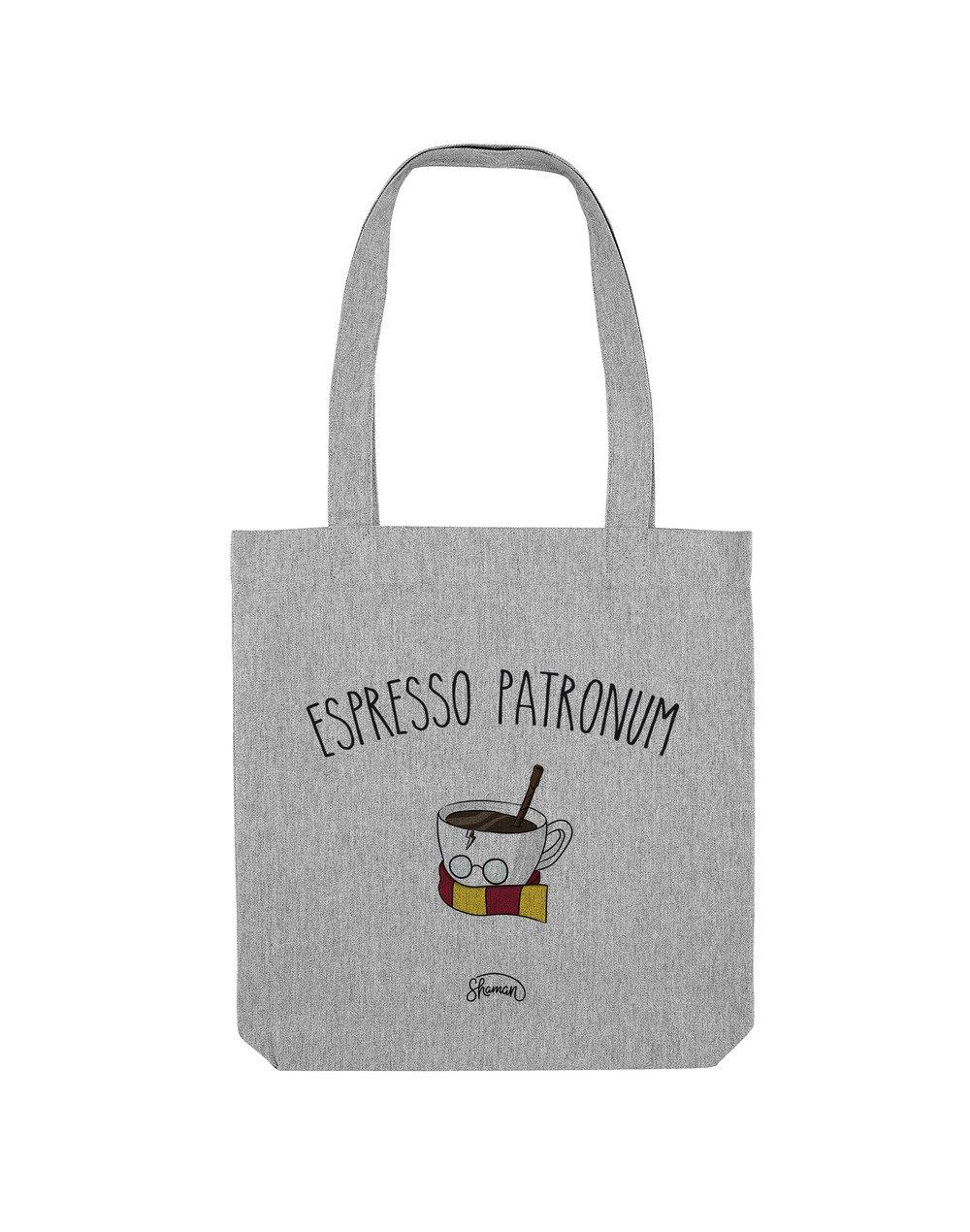 ESPRESSO PATRONUM - Tote Bag  Gris chiné  en coton