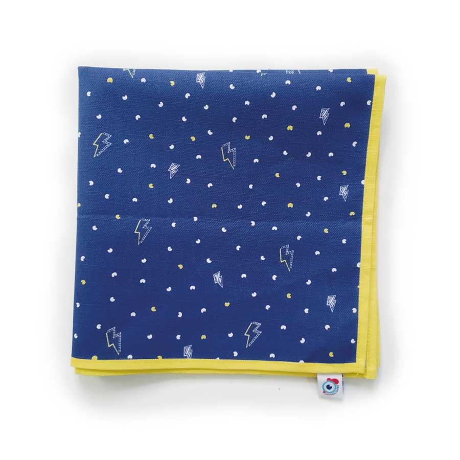 Serviette de table coton bleu espace étoile 40x40