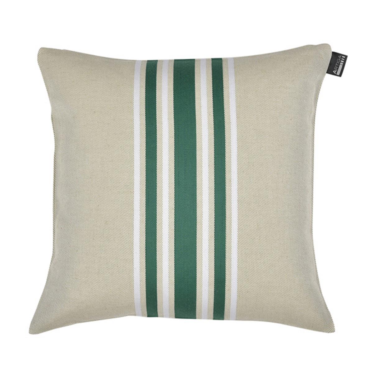 Coussin carré en coton vert 40x40 cm