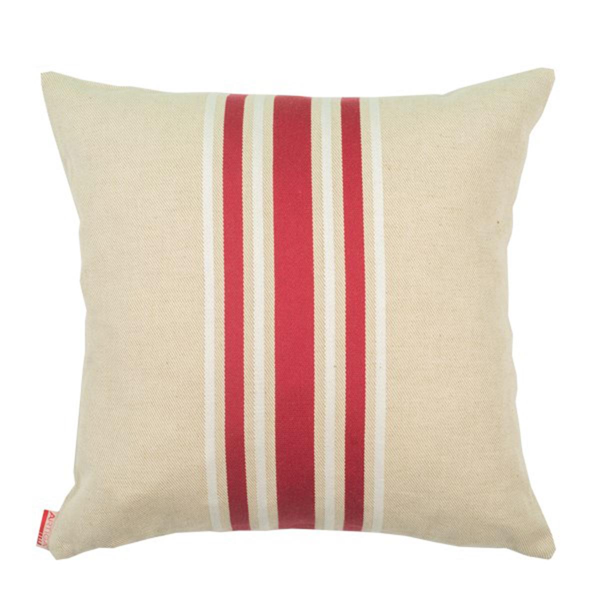 Coussin carré en coton bordeaux 40x40 cm