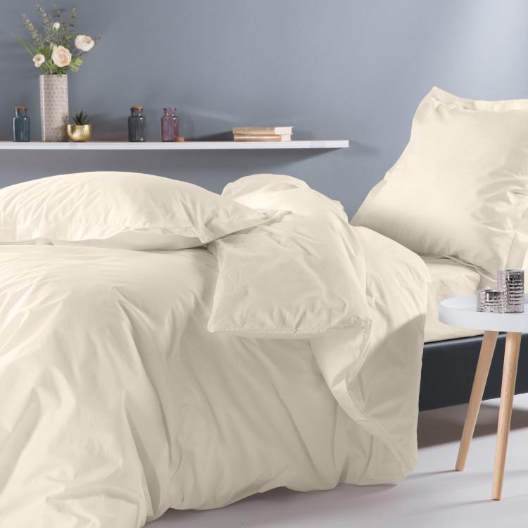Drap housse en percale blanc 140x190