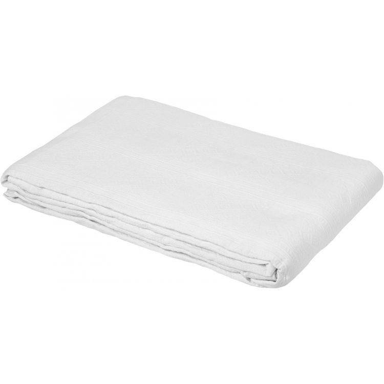 Dessus de lit en 100% coton blanc 230x250