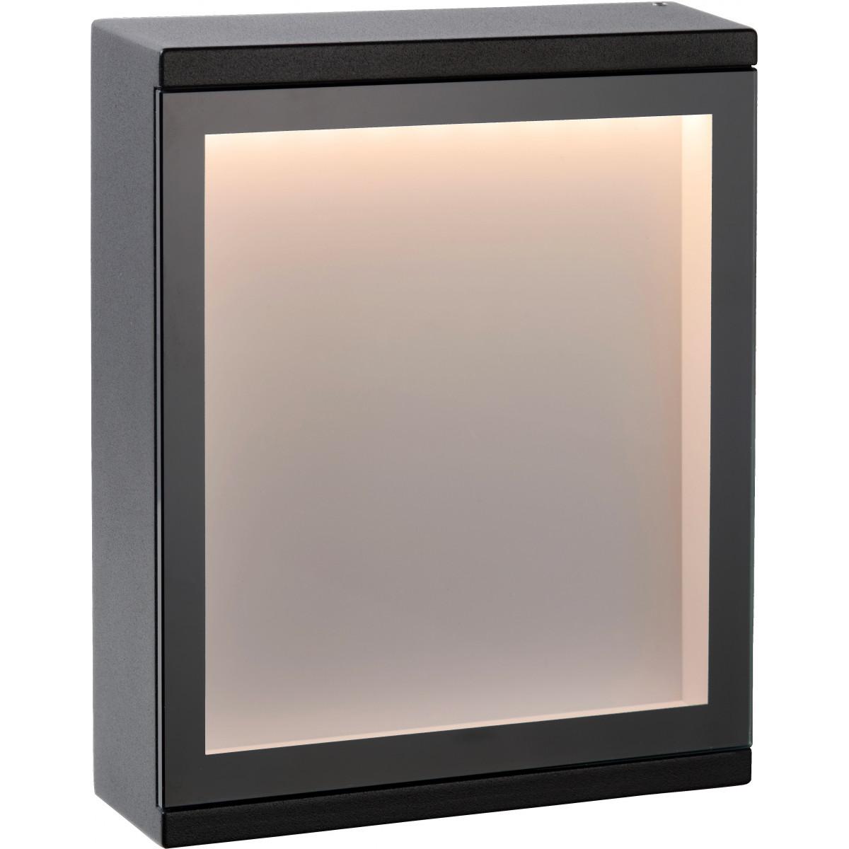 Applique moderne d'extérieur aluminium noir LED