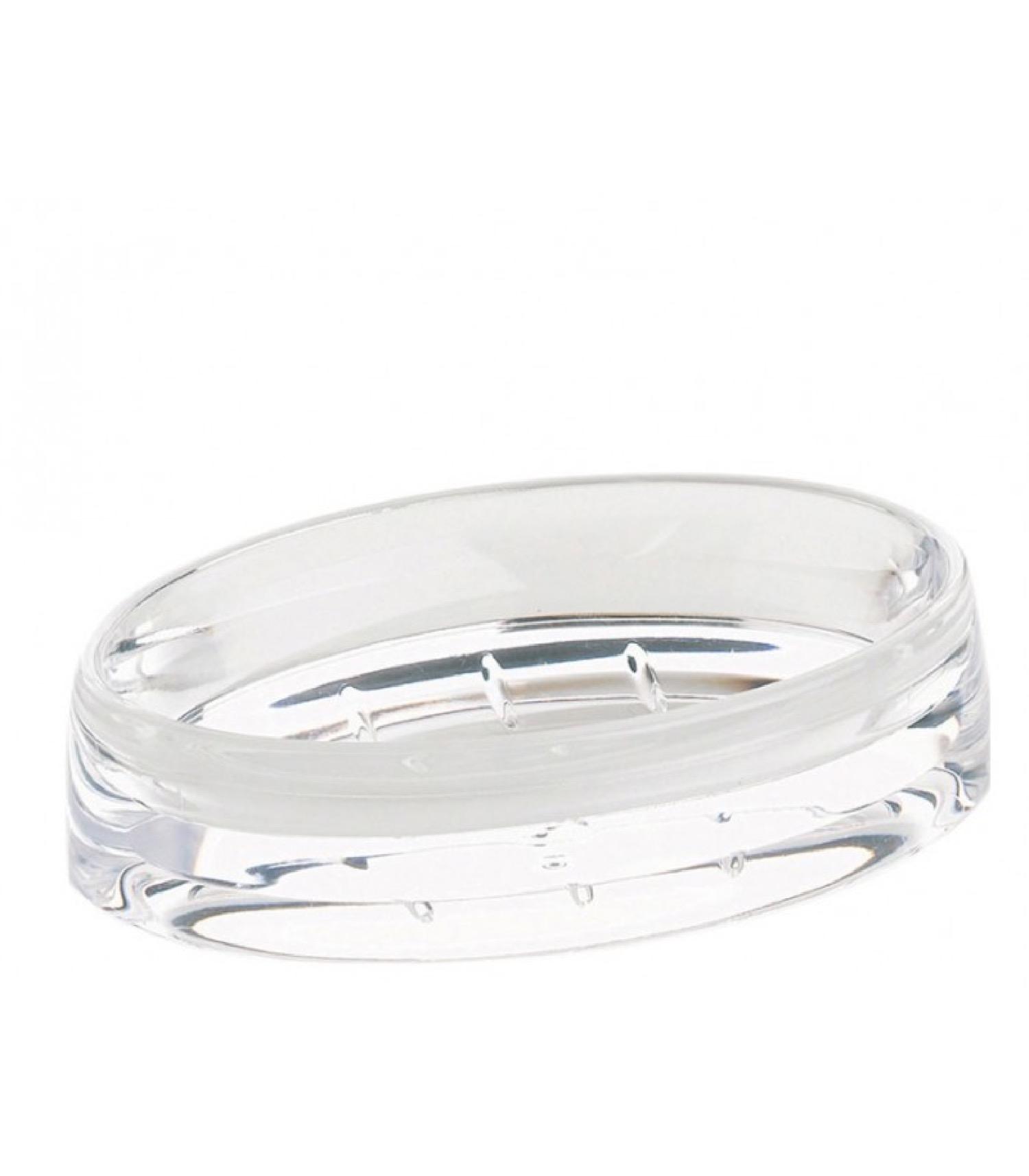 Porte savon en acrylique transparent