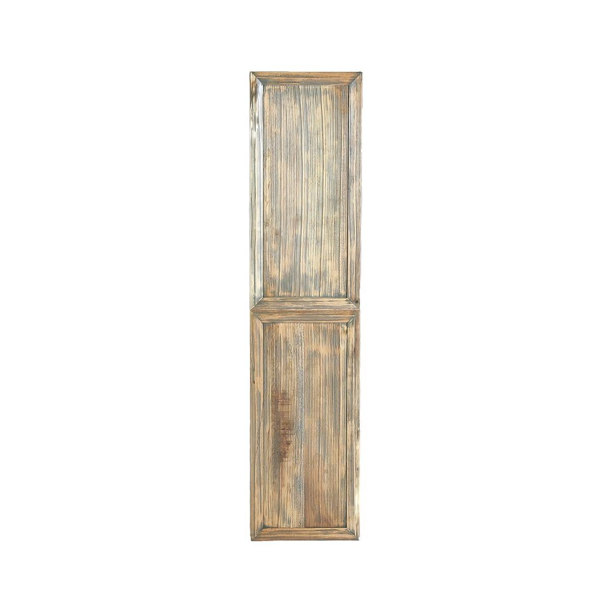 Colonne de salle de bain en bois d'hévéa suspendue