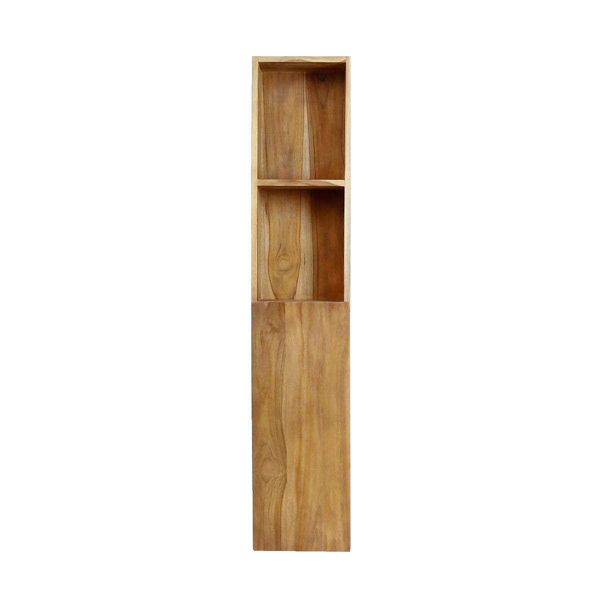 Colonne de salle de bain en bois de teck suspendue