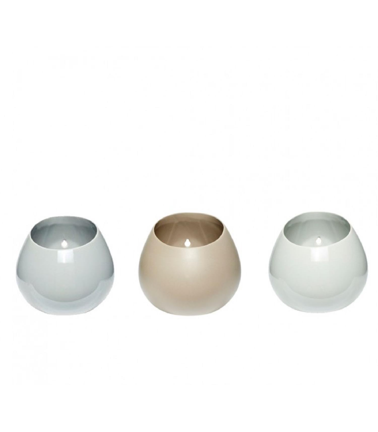 Set de 3 pots de rangement en porcelaine