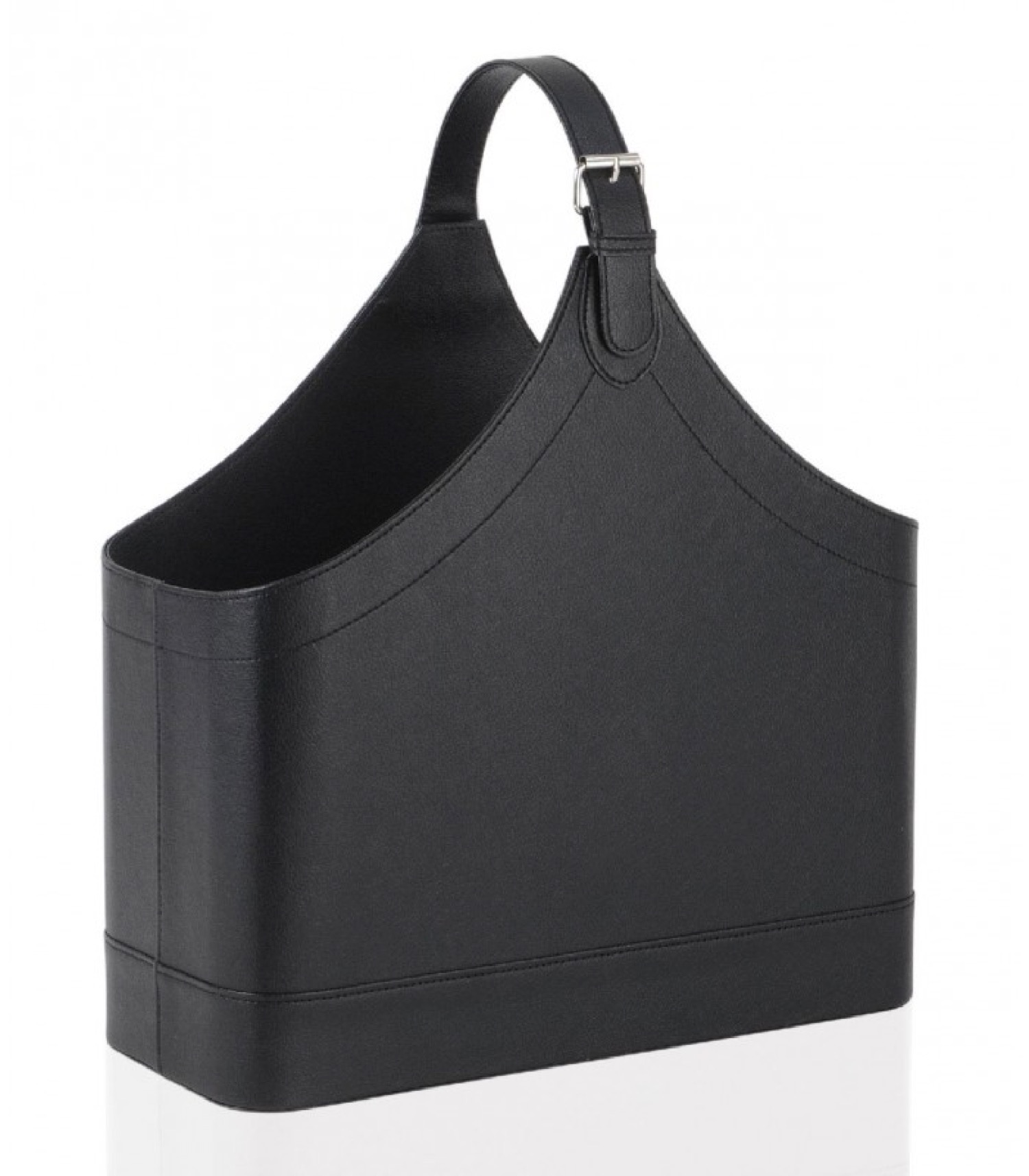 Porte revues en cuir noir