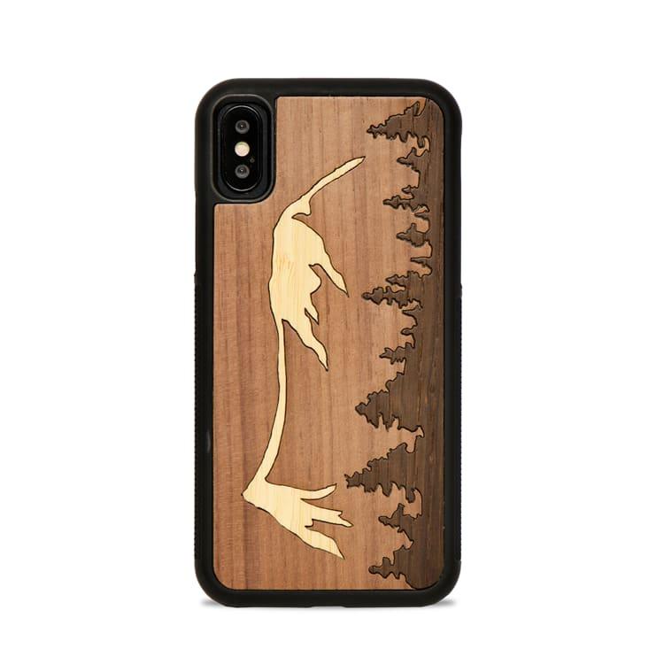 MONTAGNE - Coque en bois pour iPhone X/XS