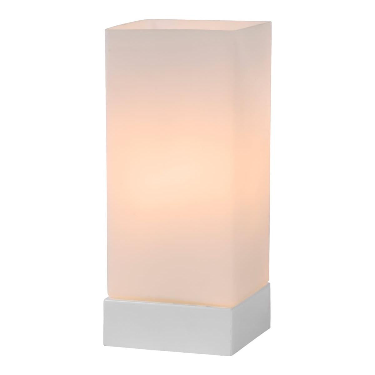 Lampe de table moderne tactile en verre blanc