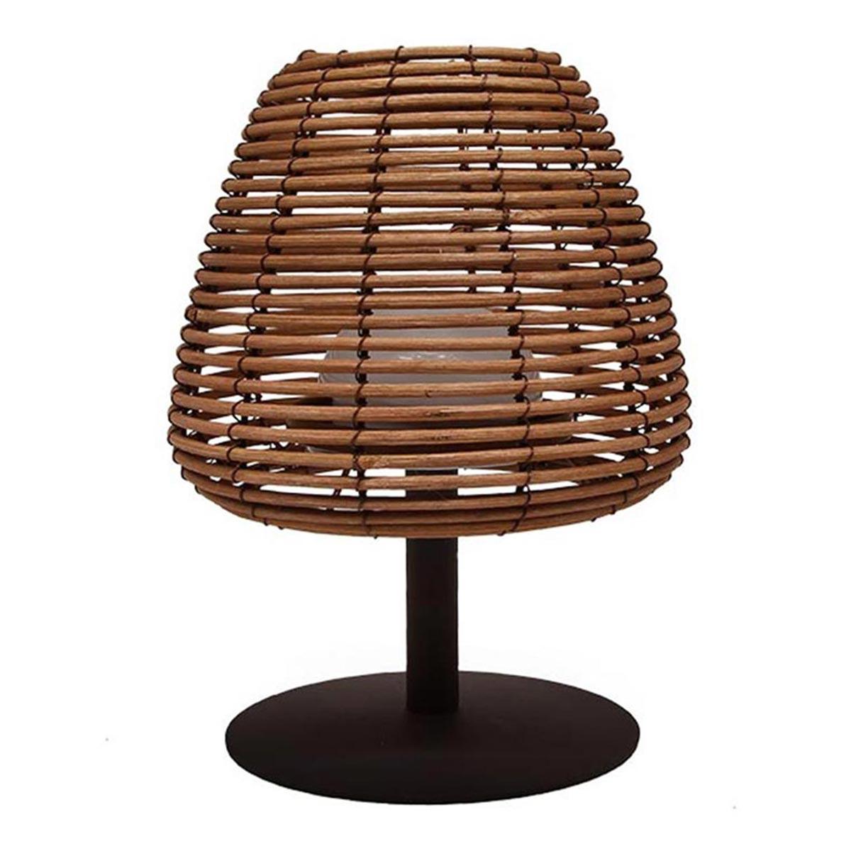 STANDY MINI BOHEME-Lampe de table sans fil rotin naturel H25cm