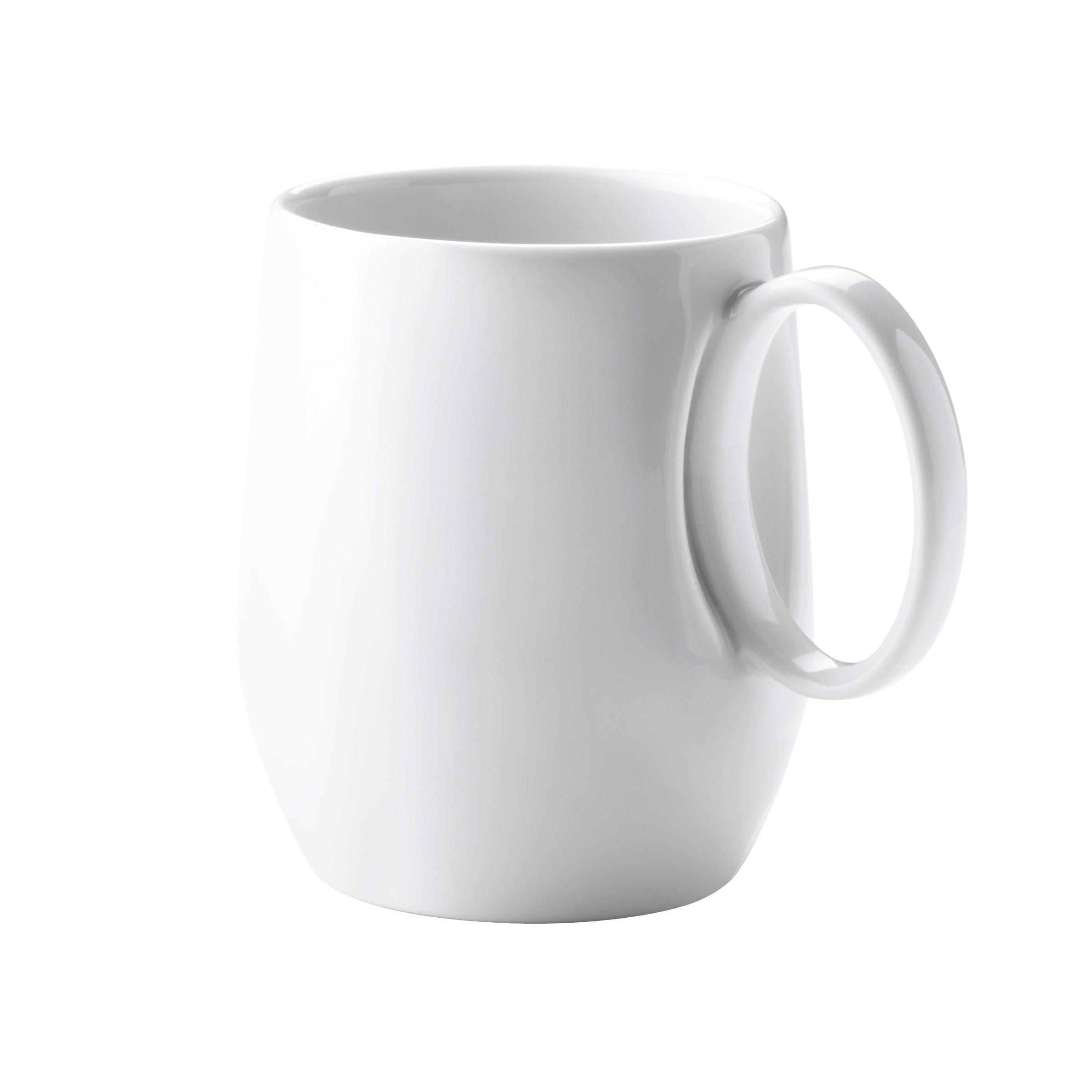 Mug en porcelaine blanche - Lot de 6