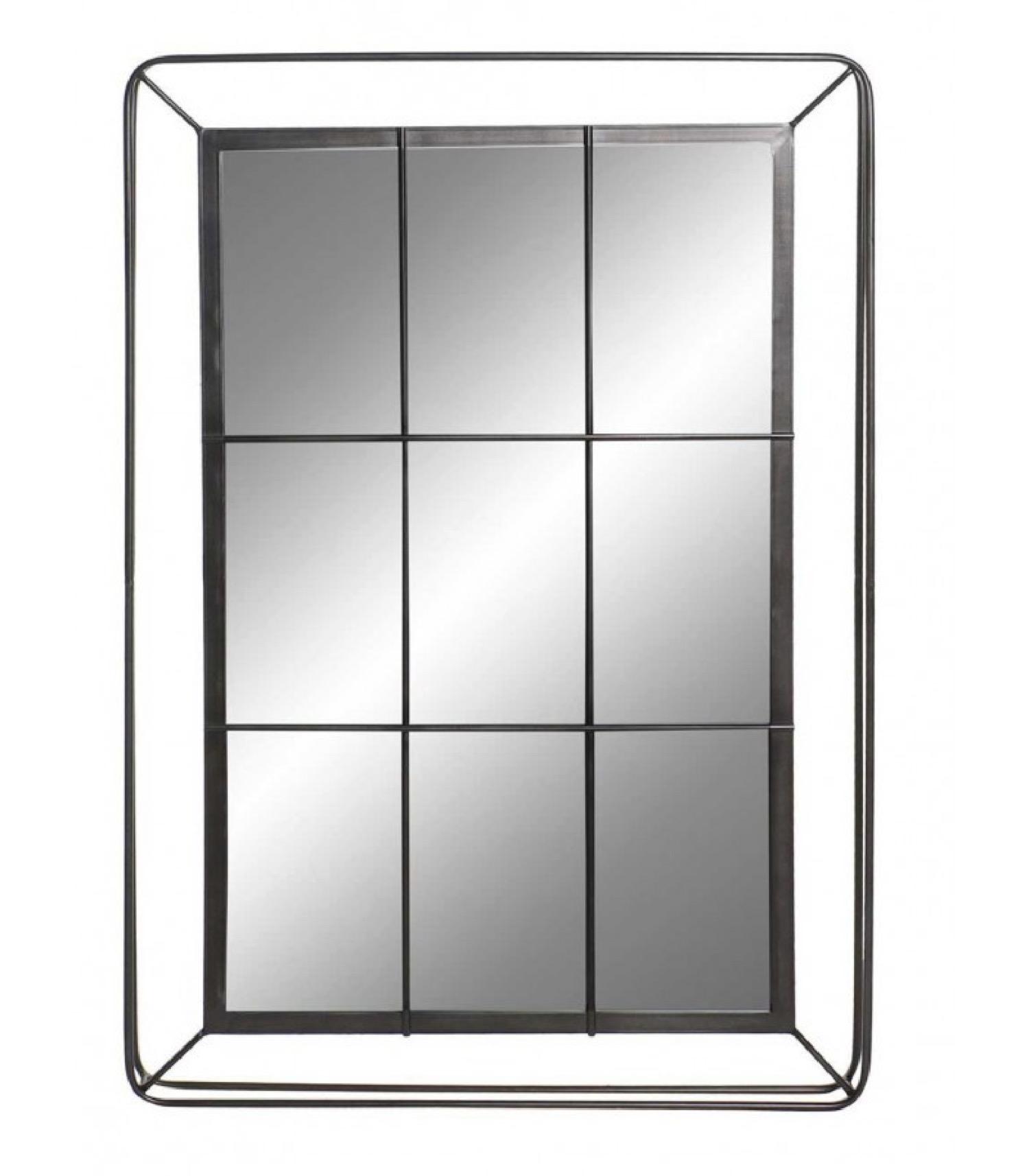 Miroir mural en métal noir 81x120cm