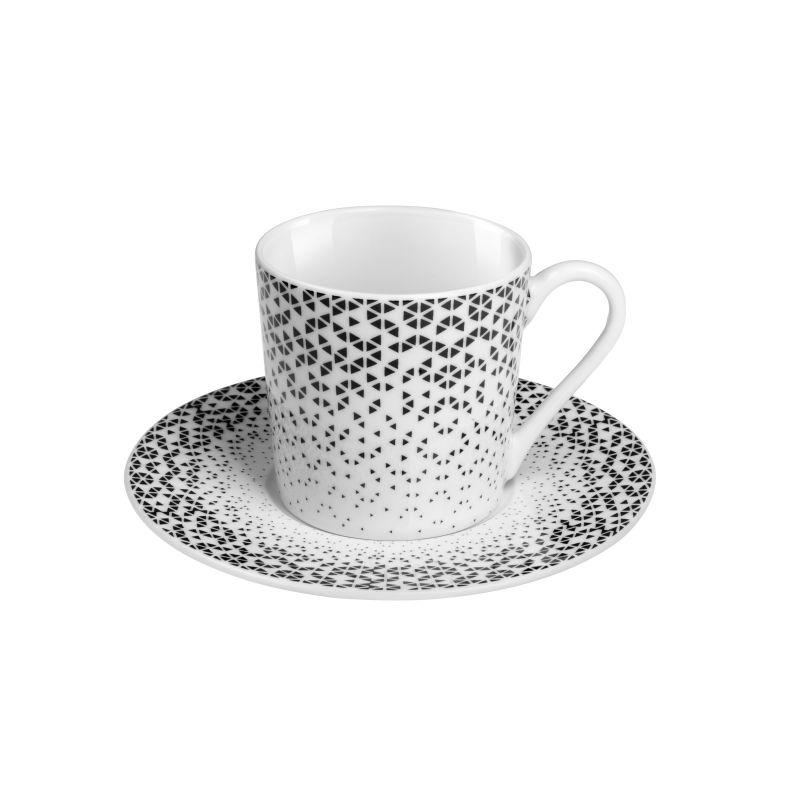 Tasse et soucoupe à café - Lot de 6