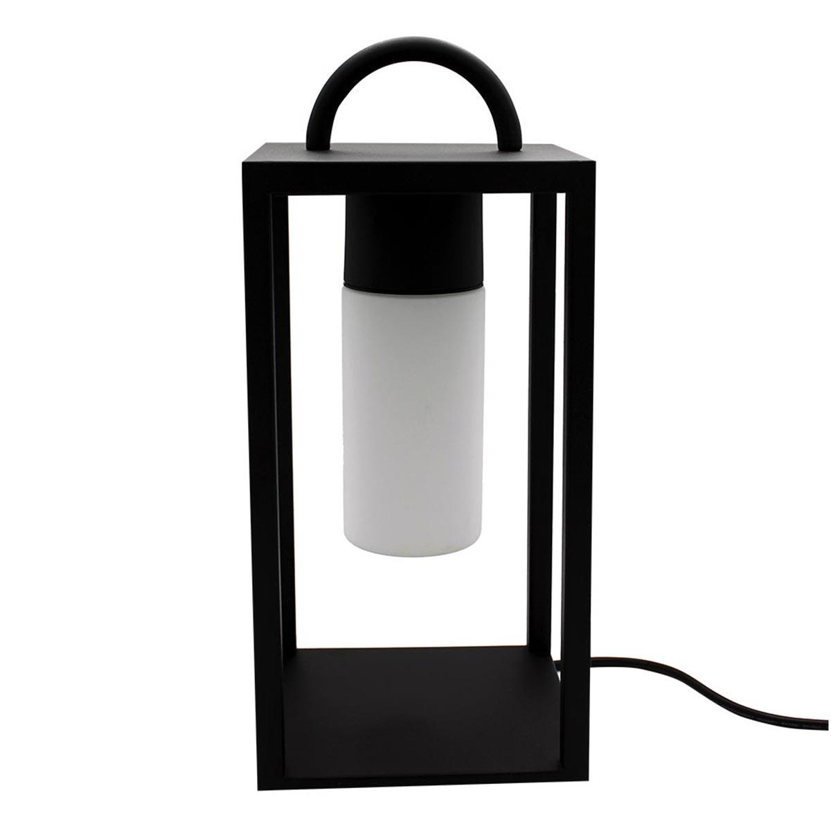 Lanterne filaire nomade acier noir H46cm