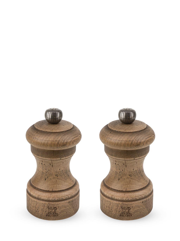 Duo de moulins poivre et sel manuels en hêtre H10cm
