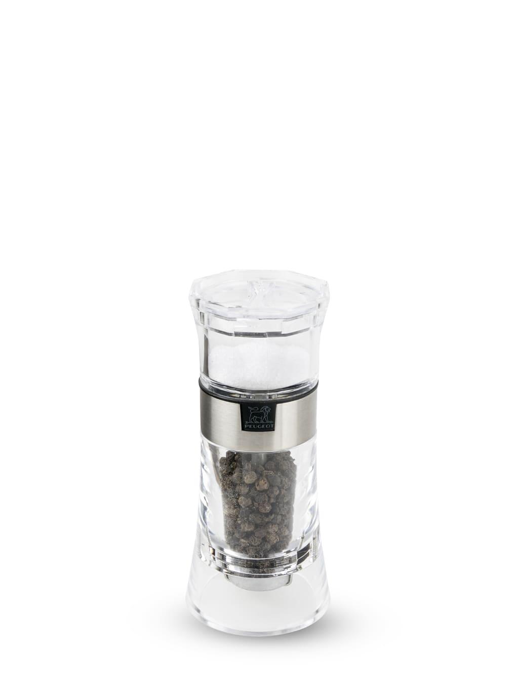 Combi moulin à poivre et salière manuel en acryl H13cm