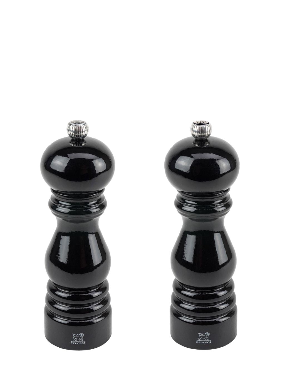 Duo moulins poivre et sel en bois noir mat H18cm