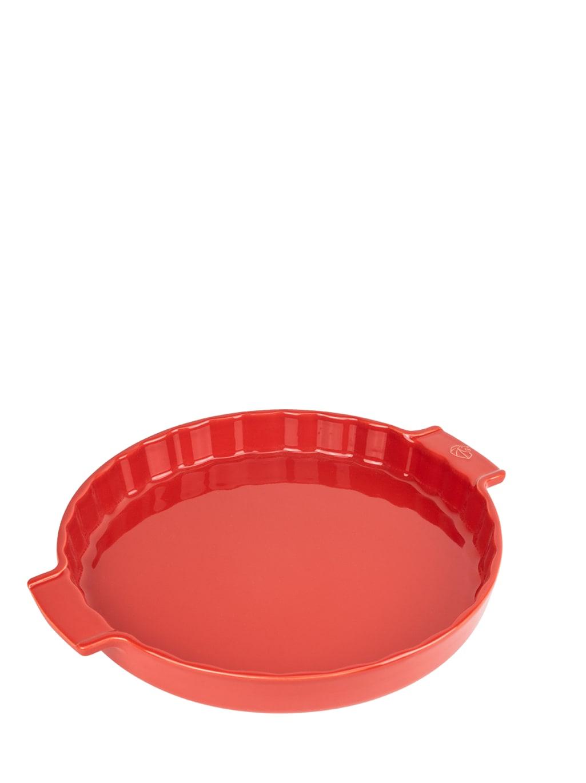 Moule à tarte céramique rouge D30cm