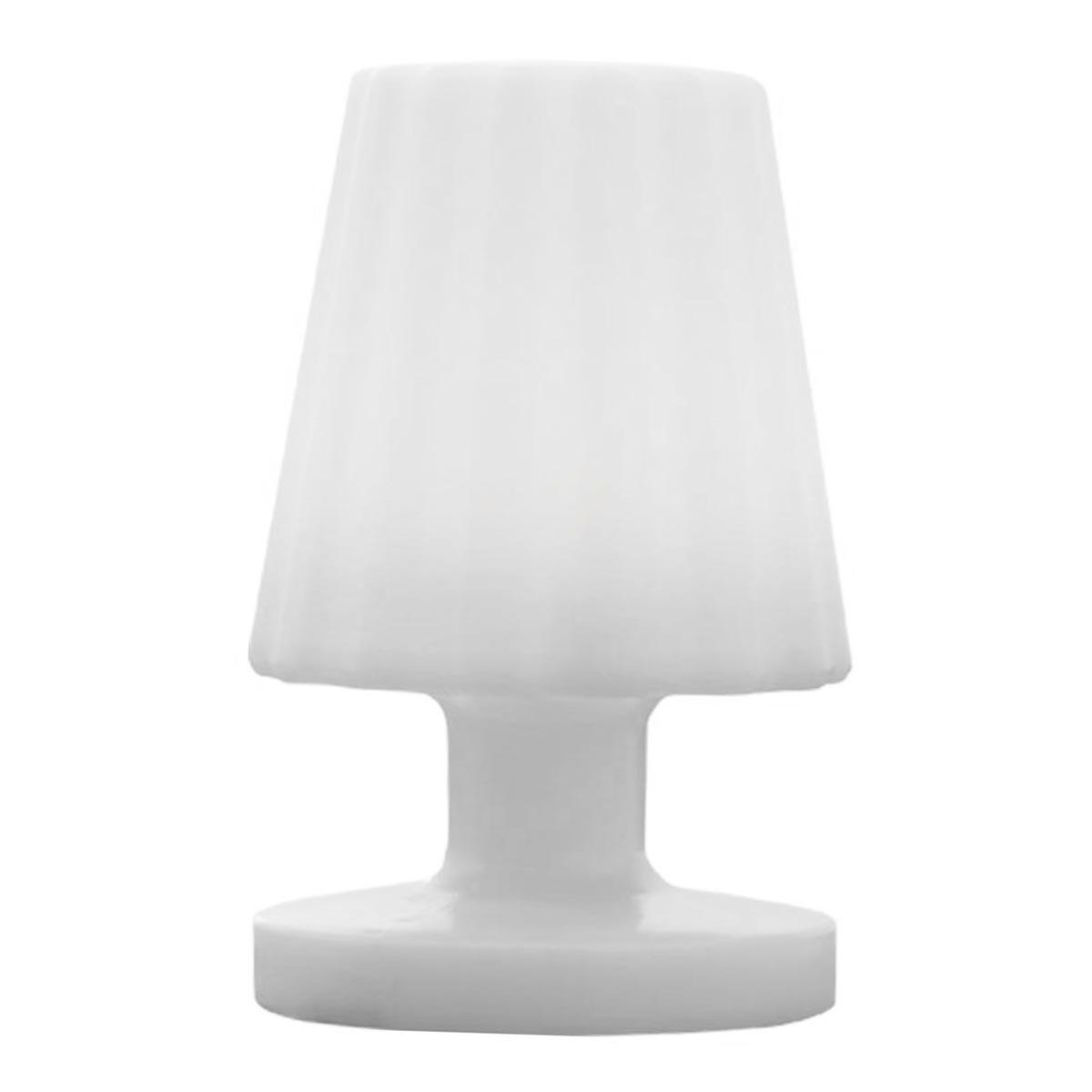 LADY MINI-Lampe de table sans fil plastique blanc 22cm