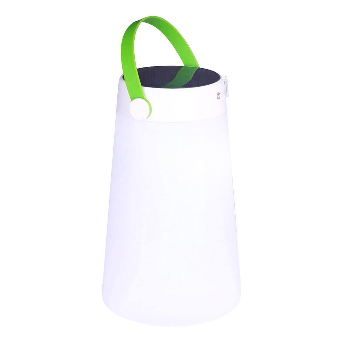 TAKE AWAY-Baladeuse solaire plastique blanc H40cm
