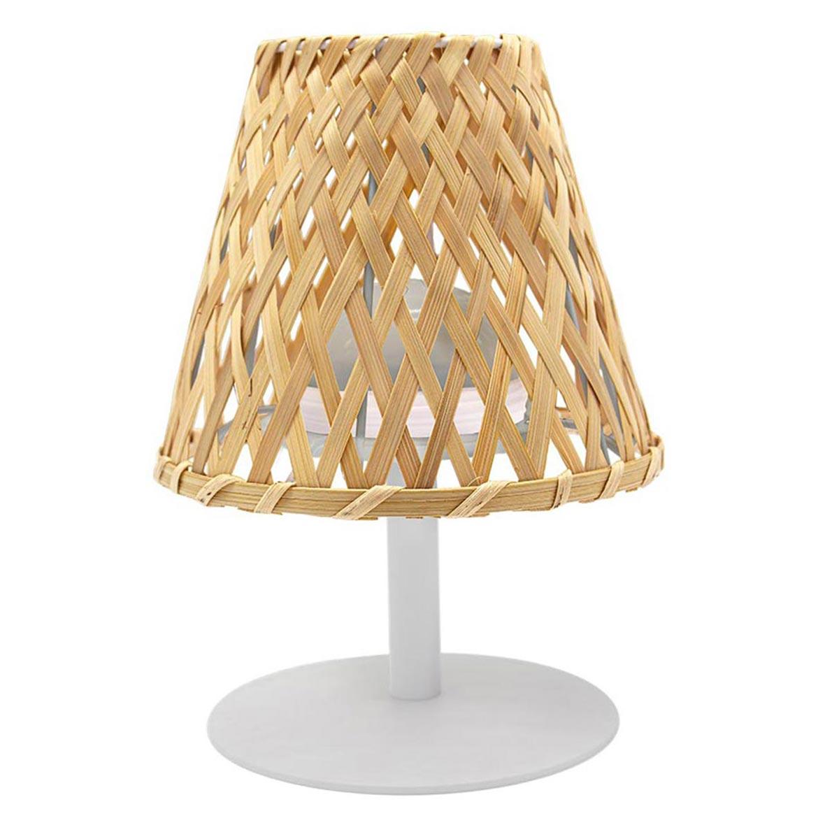 Lampe de table sans fil IBIZA bois en bambou 26cm