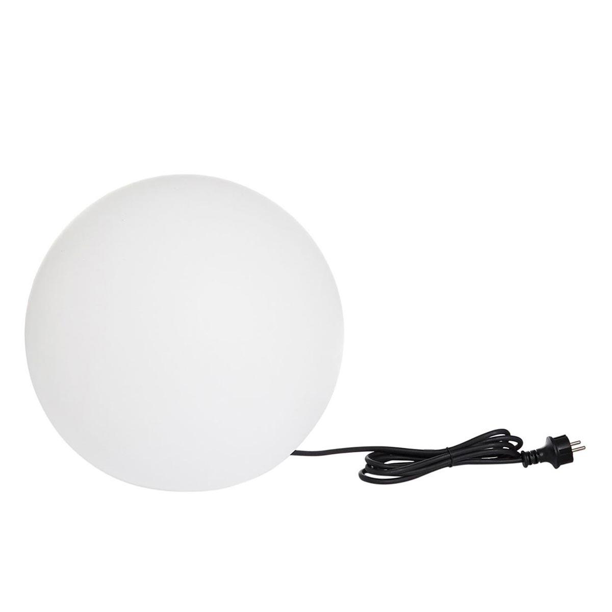 BOBBY W40-Boule lumineuse filaire Ø40cm plastique blanc