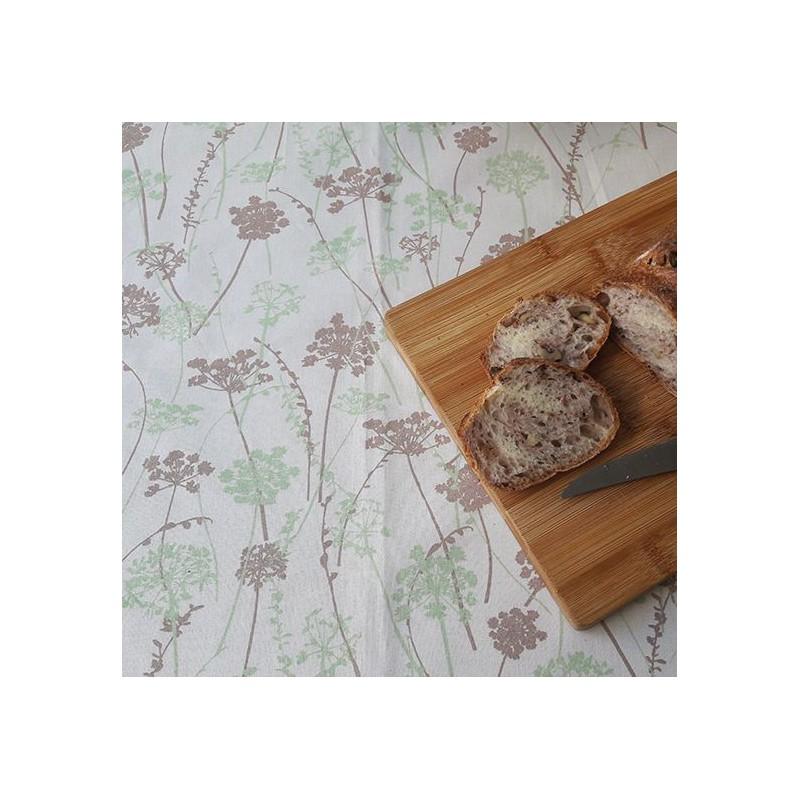 Nappe enduite carrée 160 x 160 cm vert