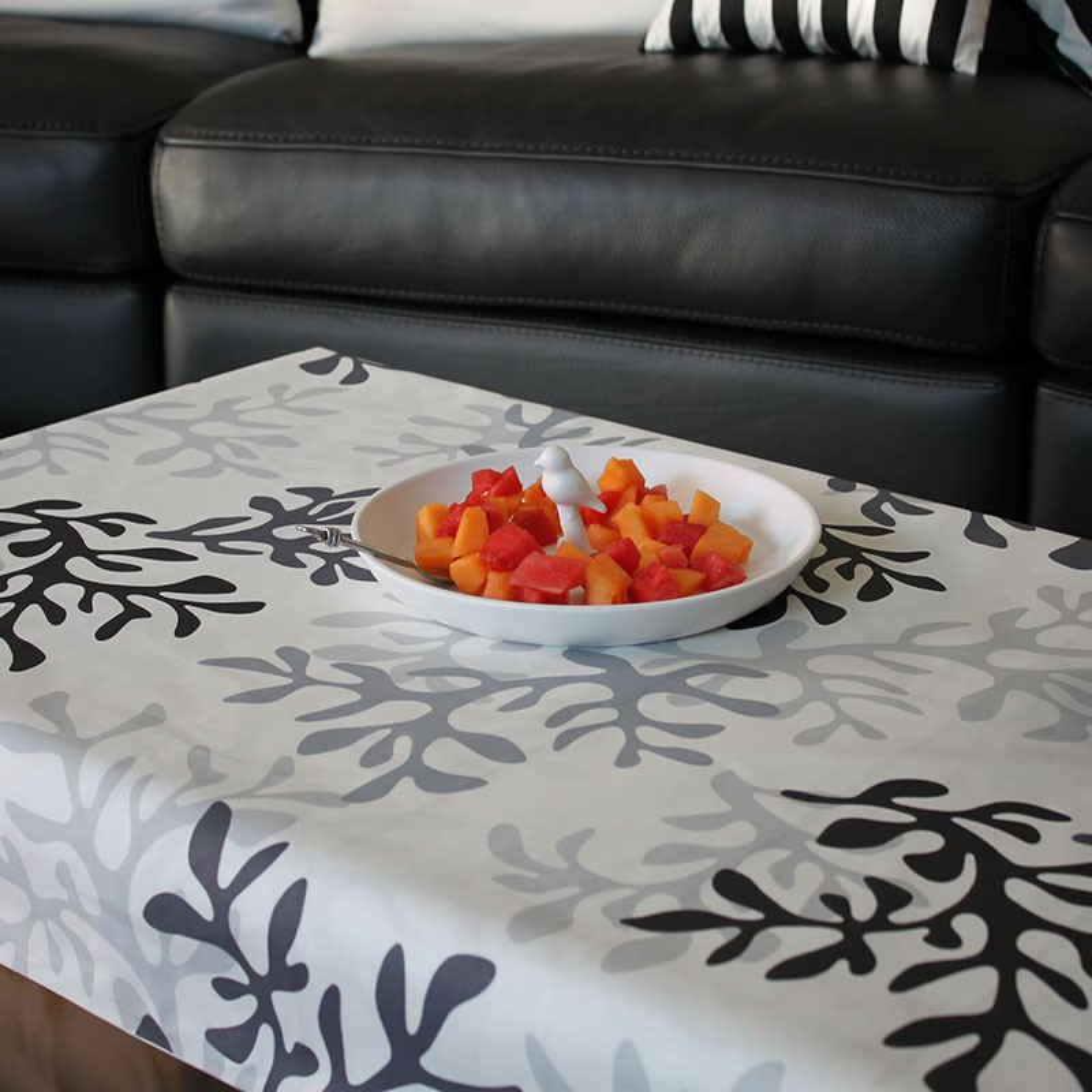 Nappe enduite rectangle 160 x 200 cm gris