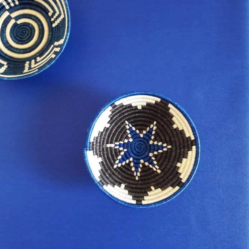 Nappe enduite rectangle 160 x 300 cm bleu