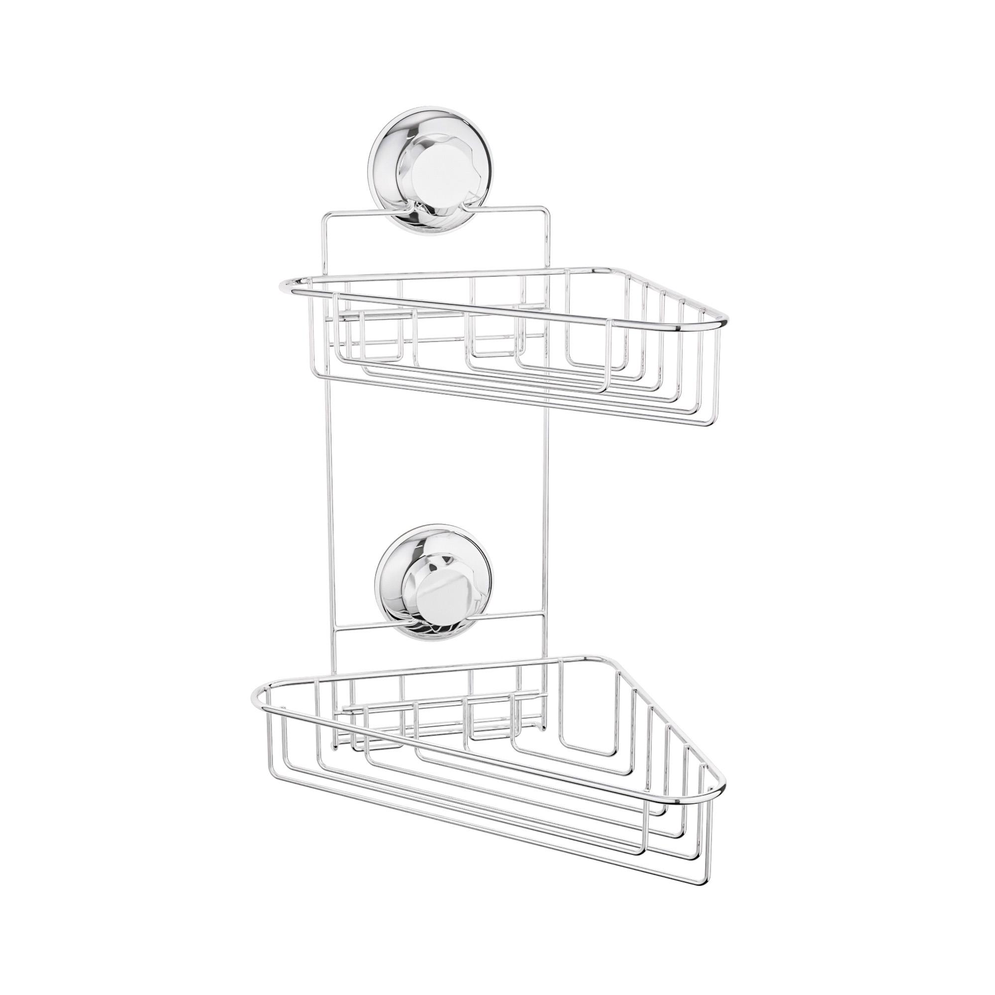 Étagère d'angle salle de bain 2 étages