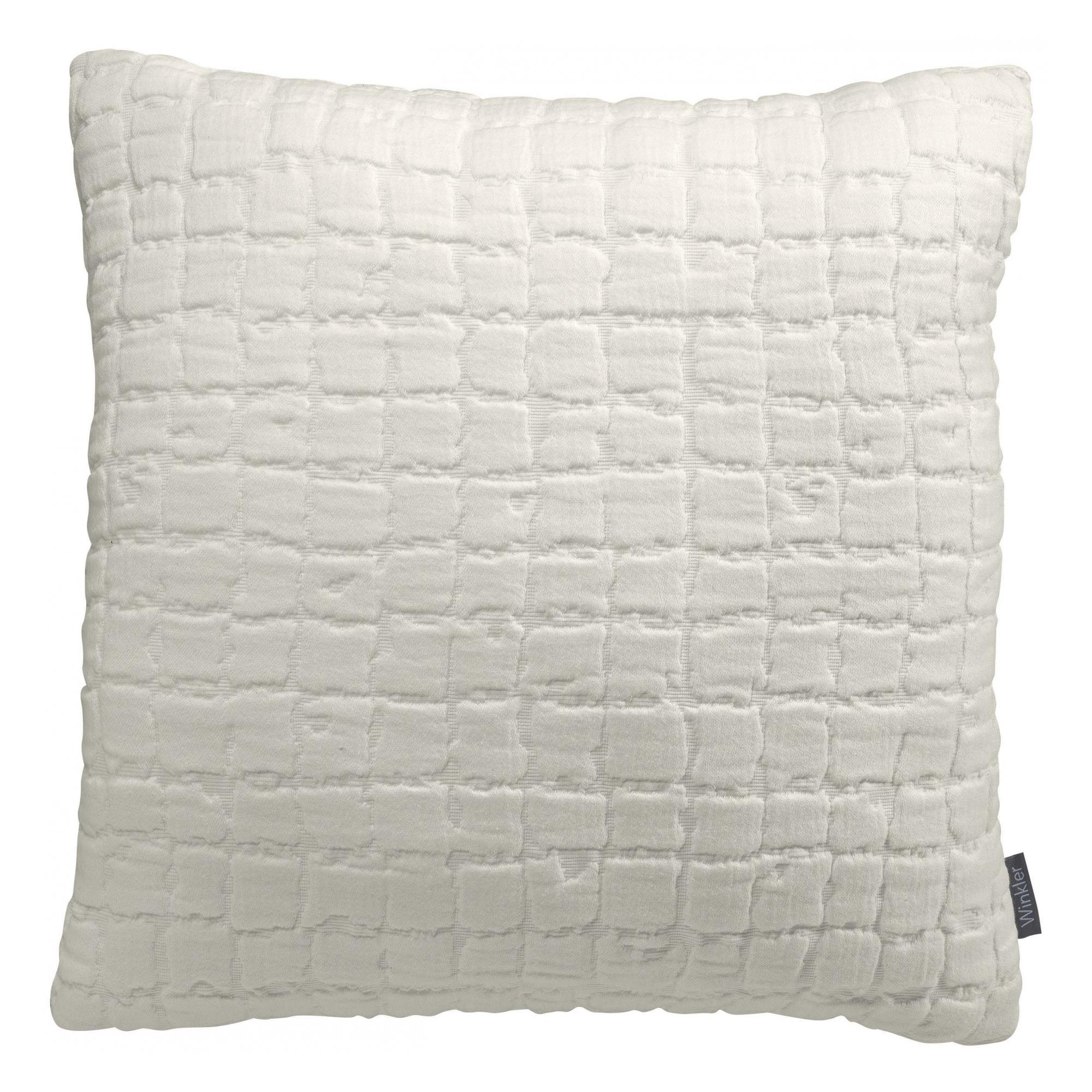 Coussin   en coton neige 45 x 45