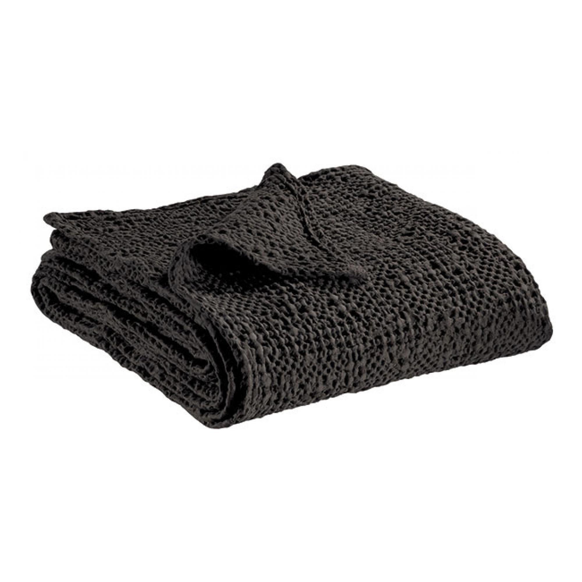 Jete en coton carbone 180 x 260