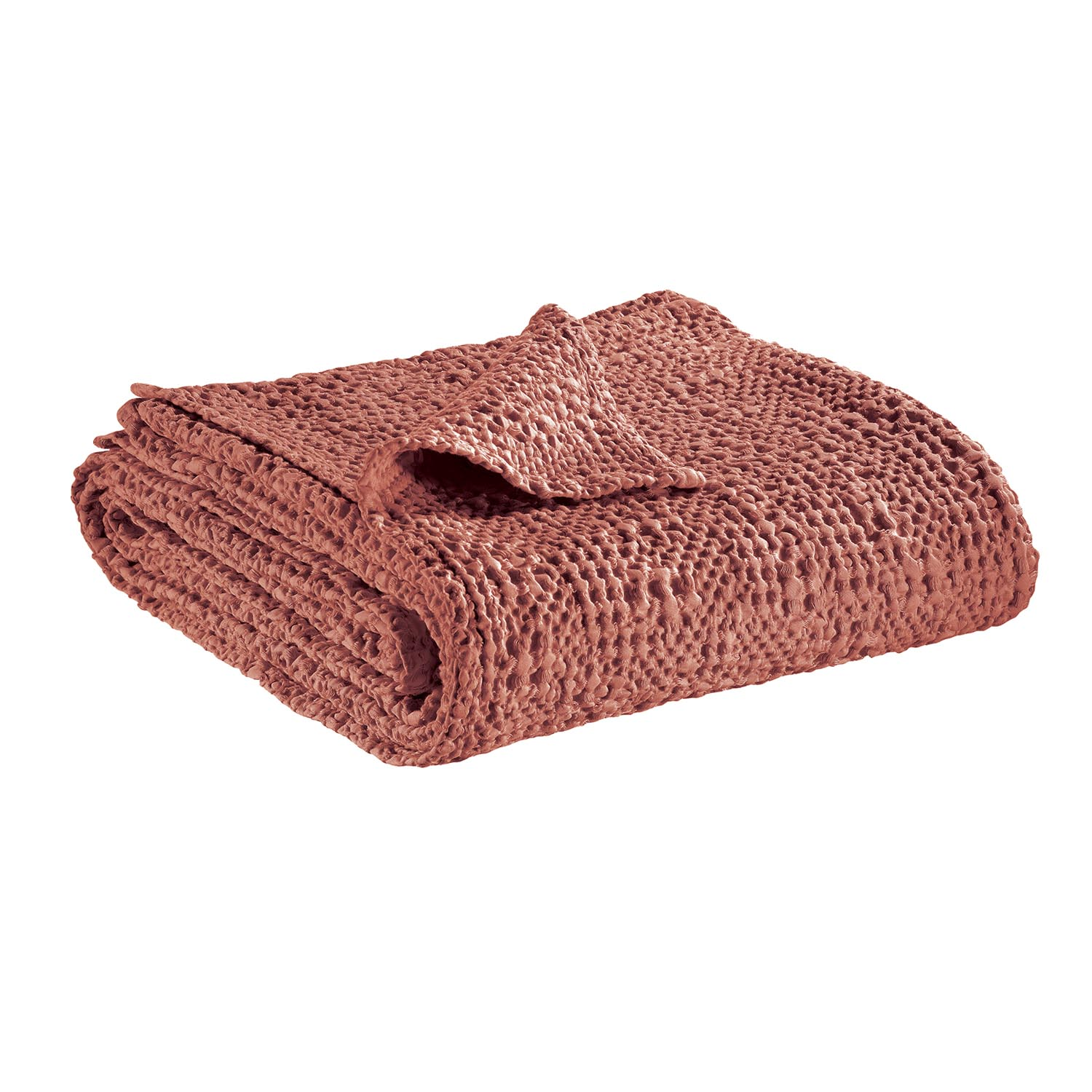 Jeté  en coton blush 240 x 260
