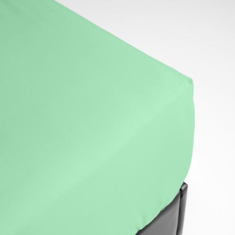 Drap housse en percale vert 180x200