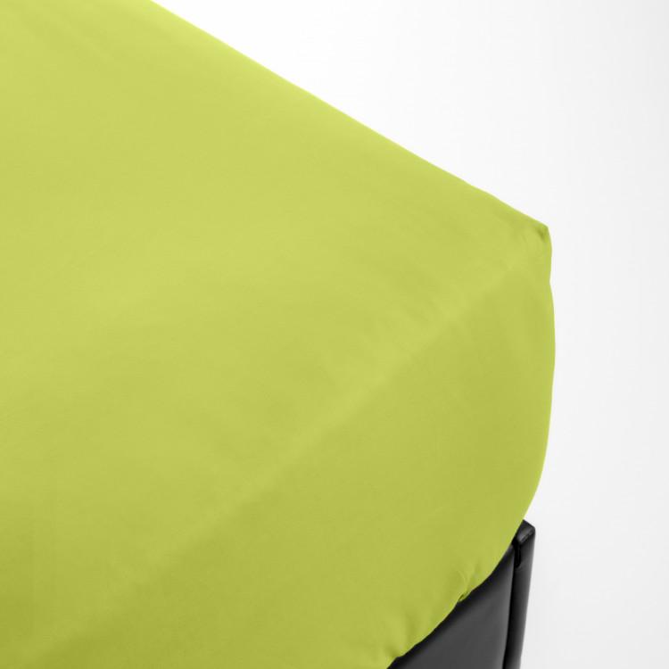 Drap housse en percale vert 70x190
