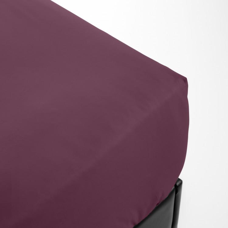Drap housse en percale violet 80x200