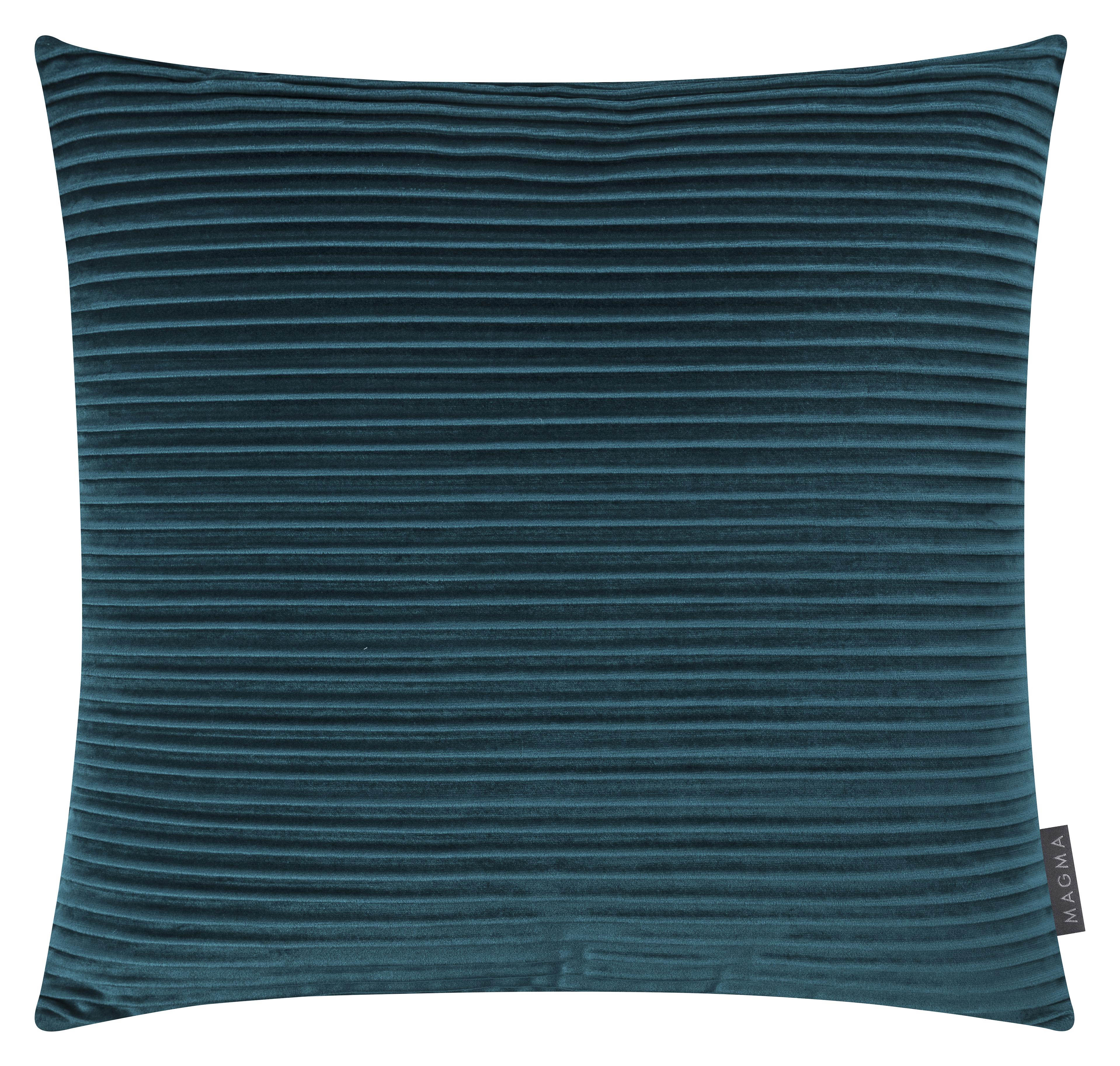 Housses de coussin velours plissé bleu pétrole 50x50 - Lot de 2
