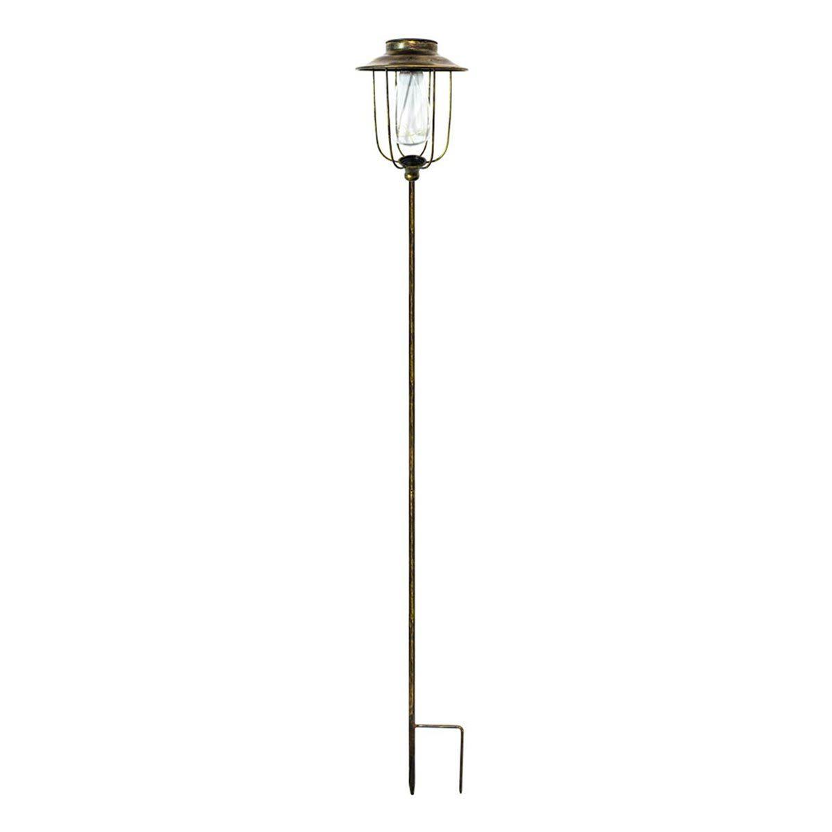 PICK VINTY-Balise solaire vintage acier marron H85cm