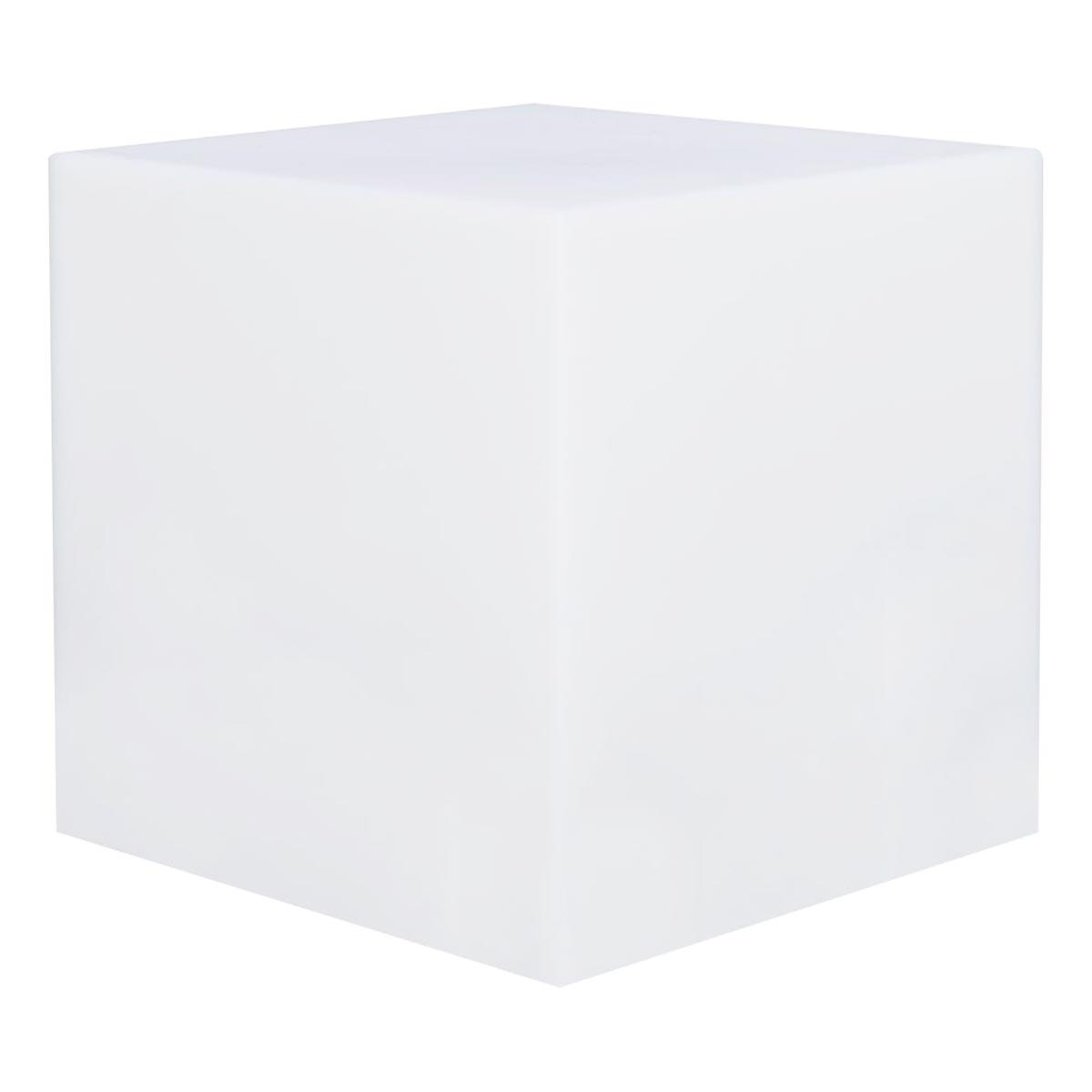 Cube lumineux sans fil plastique blanc H40cm