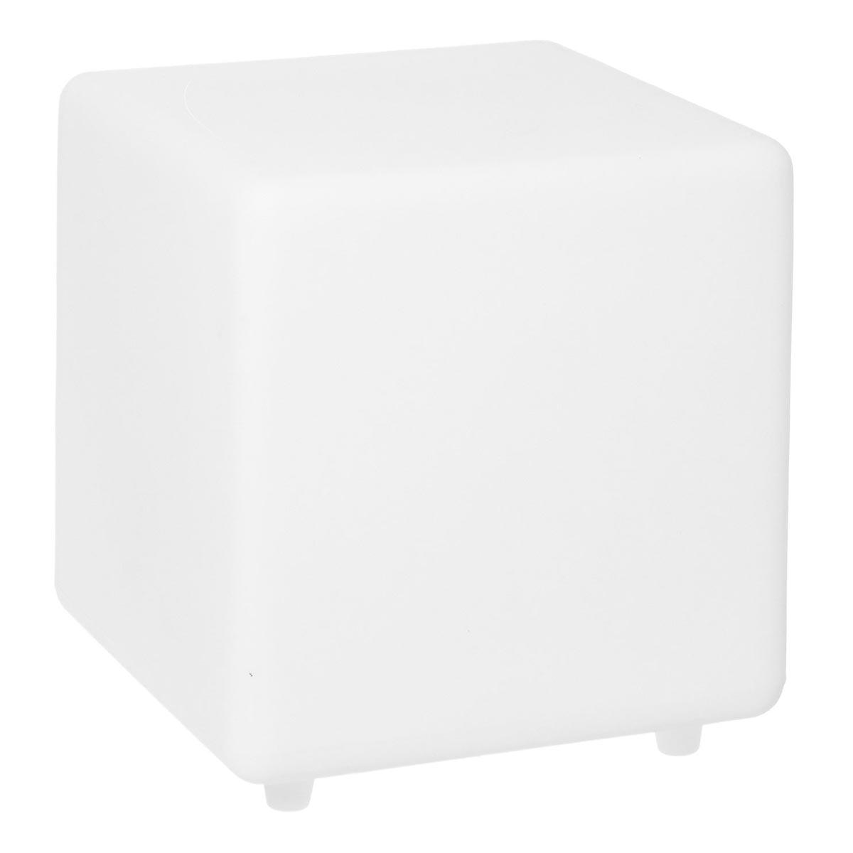 CASY-Cube solaire lumineux plastique blanc H30cm