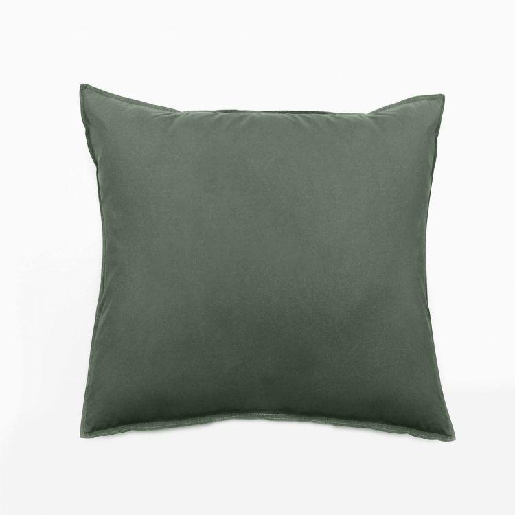 Taie d'oreiller en coton vert 65x65