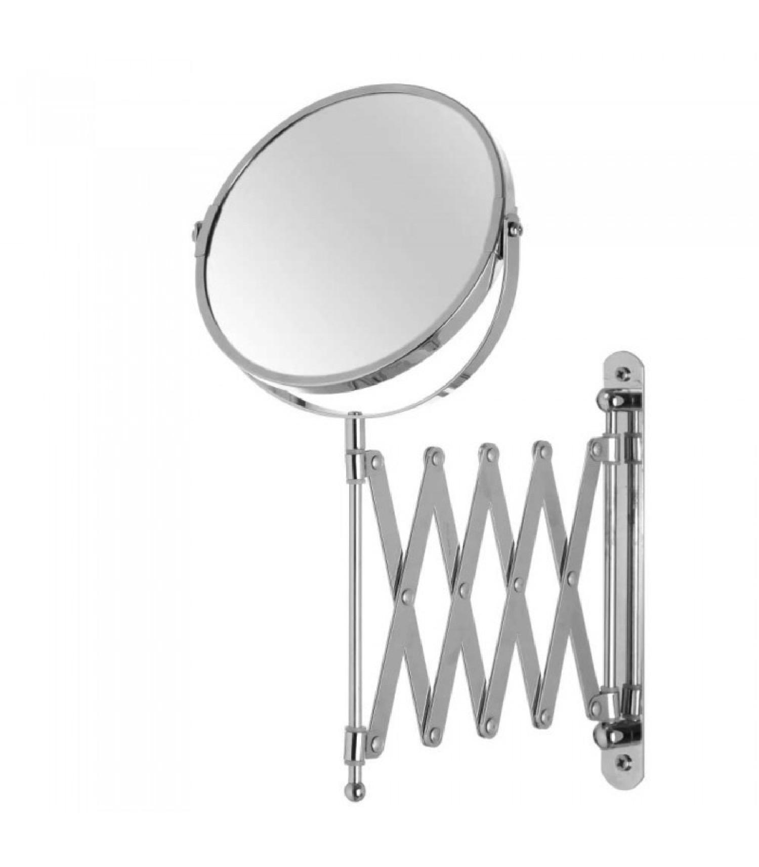 Miroir mural grossissant x2 double face avec bras