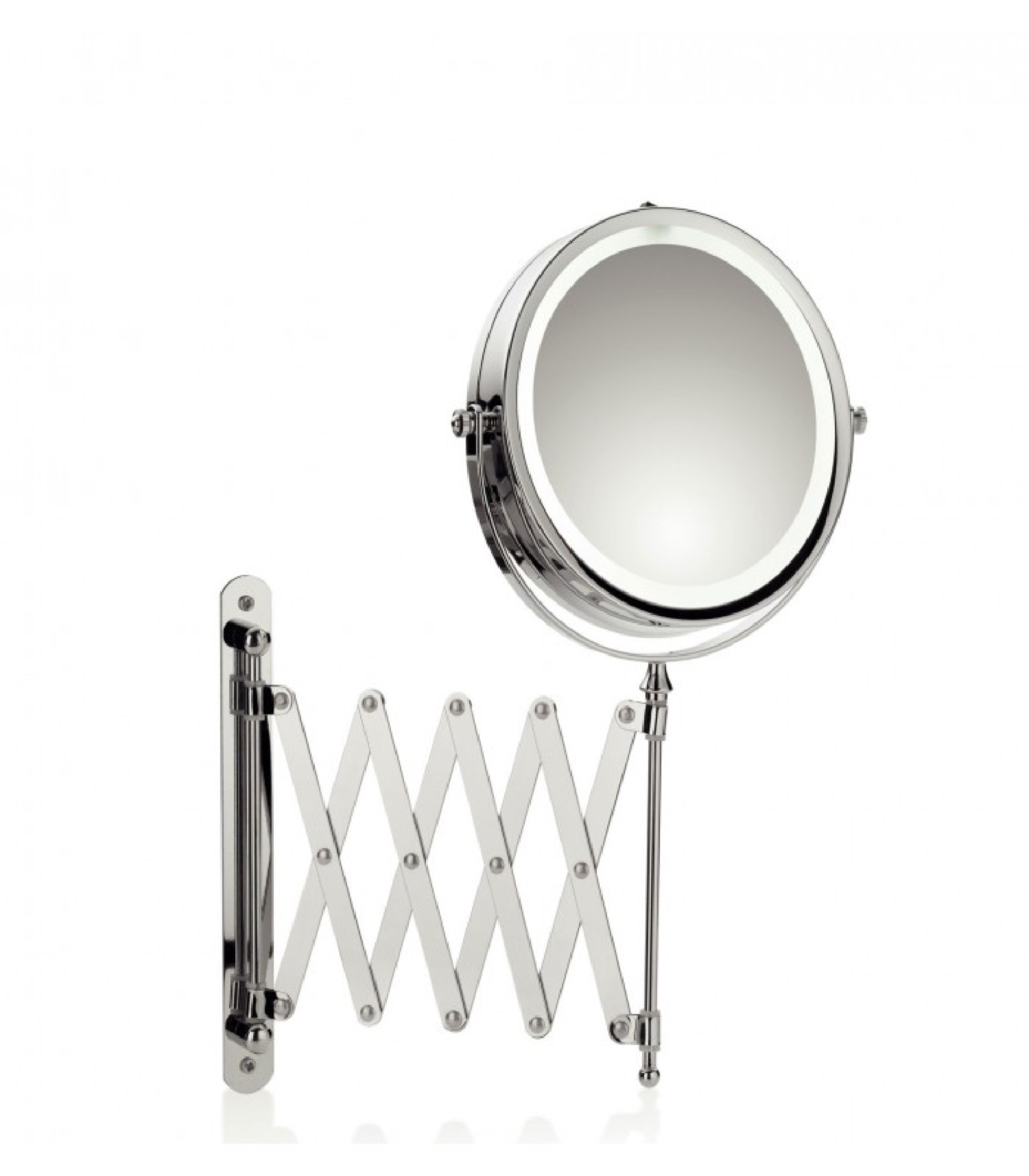 Miroir rond grossissant mural lumineux led x5